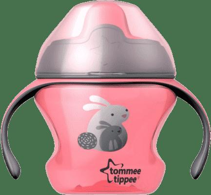 TOMMEE TIPPEE Netekoucí hrnek Explora First Cup 150ml 4m+ - růžový