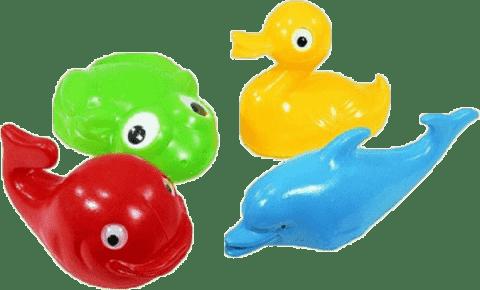 SMER Zestaw do kąpieli zwierzątka plastik 4 szt.