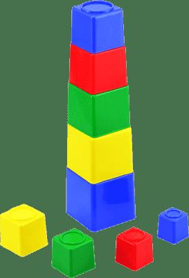 SMER Kubus piramida kwadratowa plastik asst