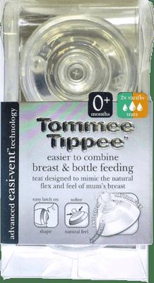 TOMMEE TIPPEE Smoczek do butelek C2N - zmienny przepływ, 0m (2 szt.)