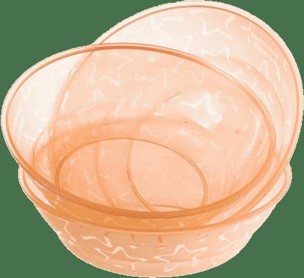 TOMMEE TIPPEE Misky 3 ks 6m + Basic-oranžová