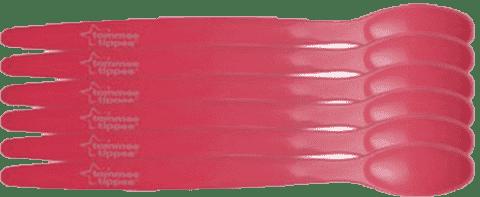 TOMMEE TIPPEE Lyžičky 6 ks 6m + Basic-dievča