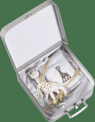 VULLI Darčekový kufrík žirafa Sophie + froté uterák
