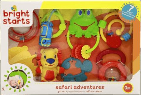 BRIGHT STARTS Dárková sada hraček Safari Gift Set (0m+)