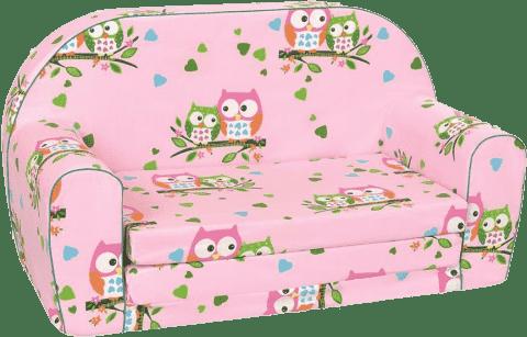 BINO Mini pohovka ružová - malej sovy