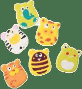 BABY ONO Hračky do koupele - zvířátka s přísavkami 6ks