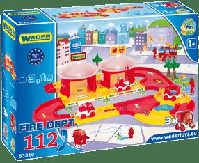 WADER Kid Cars 3D Straż pożarna plastik 3,1 m w pudle 1+