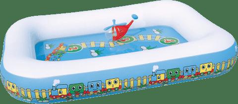 BESTWAY Nafukovací bazén 1-2-3 Mašinka - 201  x  150  x  30 cm