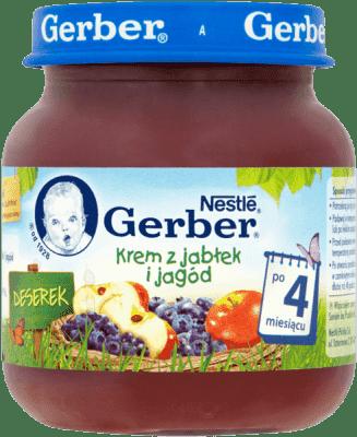 GERBER Krem z jabłek i jagód (125g)