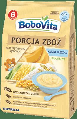 BOBOVITA Kaszka Porcja zbóż mleczna kukurydziano-ryżowa banan (210g)