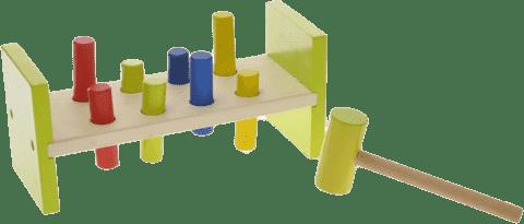 2-PLAY Zatloukátko s kladívkem dřevěné