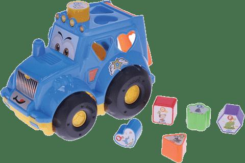 MIKRO TRADING Traktor vkladací - modrý