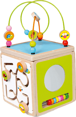 SCRATCH Drevená kocka s aktivitami