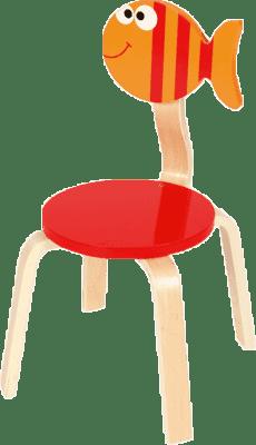 SCRATCH Drewniane dziecięce krzesełko Rybka