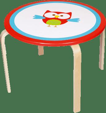 SCRATCH Drevený detský stôl Sovička
