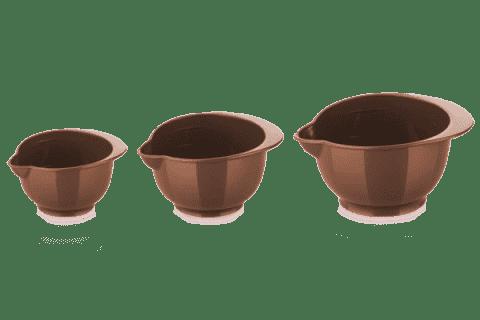 TESCOMA Miski plastikowe DELÍCIA zestaw 3 szt. – brązowe