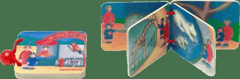 BINO Dřevěná knížka - ZOO