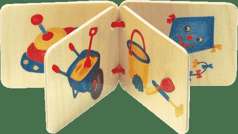 BINO Drevená knižka - hračky