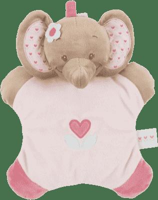 NATTOU Chrastítko polštářek sloník Rose