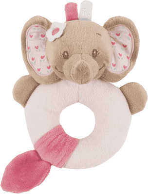NATTOU Chrastítko sloník Rose