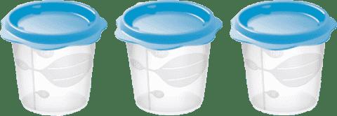 TESCOMA Pojemnik na jedzenie BAMBINI 150 ml. - 3 szt. Niebieski