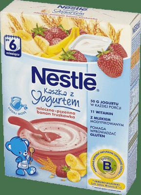 NESTLÉ Kaszka mleczno-pszenna z jogurtem banan truskawka (250g)