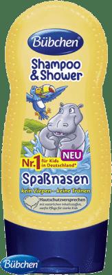 BÜBCHEN Kids Szampon i żel pod prysznic 2w1 Wesoły hipopotam 230ml