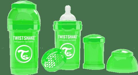 TWISTSHAKE Antykolkowa butelka 180ml Zielona