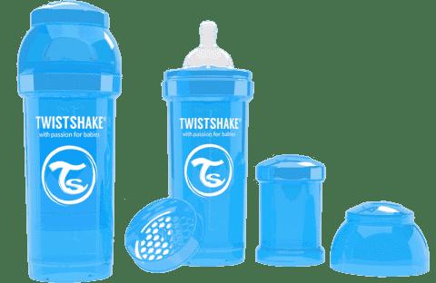 TWISTSHAKE antikoliková fľaša 260ml Modrá