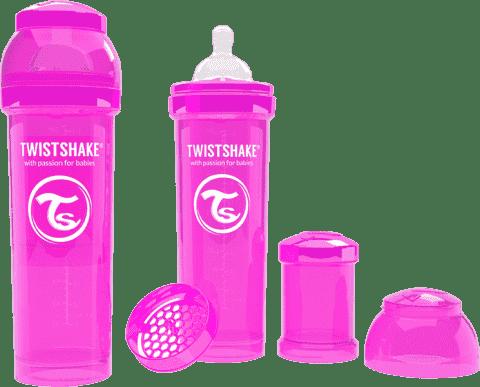 TWISTSHAKE antikoliková fľaša 330ml Ružová