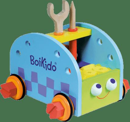 BOIKIDO Drewniany zestaw Samochodzik z narzędziami