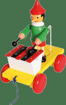 BINO Pinocchio z ksylofonem - zabawka do ciągnięcia