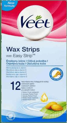 VEET Plastry z woskiem dla skóry wrażliwej 12 szt.