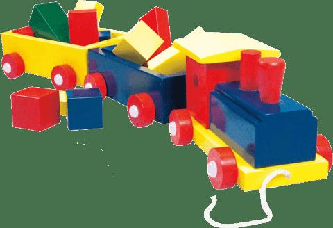 BINO Duży pociąg, kolorowy - 2 wagony