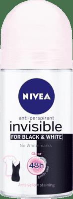 NIVEA Guľôčkový Antiperspirant Black a White Clear 50ml