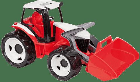 LENA Traktor z łyżką, czerwono-biały