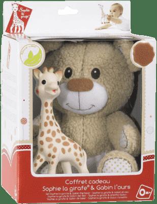 VULLI Zestaw Pluszowy miś Gabin + żyrafa Sophie