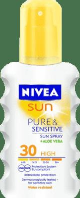 NIVEA SUN Sprej na opalování Sensitive OF30 200 ml