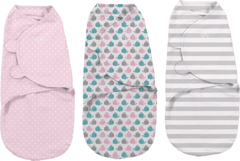 SUMMER INFANT Zavinovačka SwaddleMe S - ružová súprava 3 ks