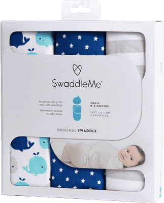 SUMMER INFANT Otulaczek SwaddleMe – niebieski zestaw 3 szt.