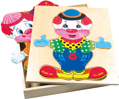 BINO Šatníková skriňa veľká - klaun