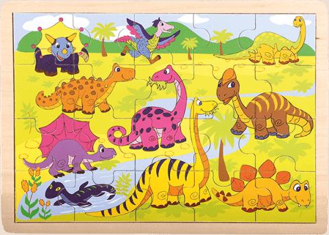 BINO Puzzle, Dinosaury