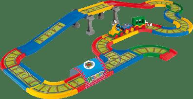 WADER Kid Cars - Železnice s mestom - 4,1m WADER
