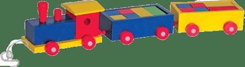 WOODY Vlak farebný 2 vagony