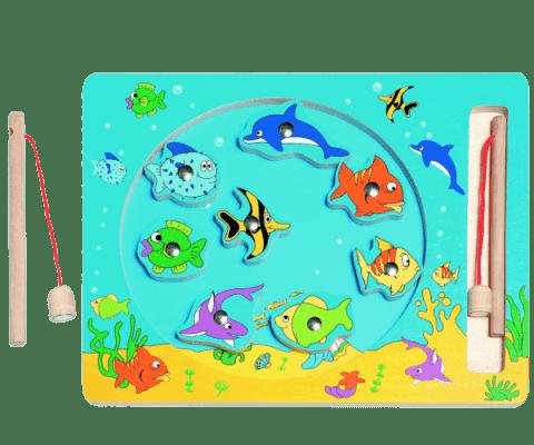WOODY Kruh Rybolov - magnetická hra