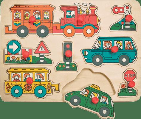 WOODY Puzzle drewniane Transport