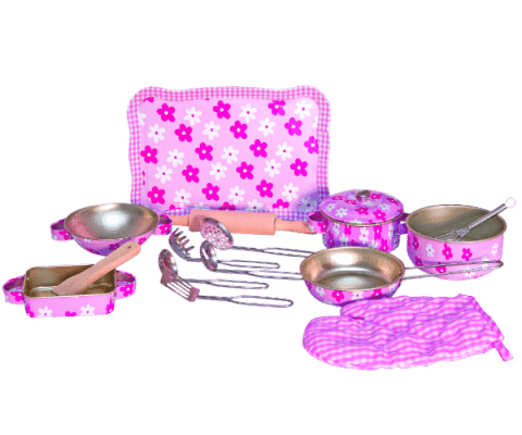 WOODY Ružové riady s chňapkou - Trendy