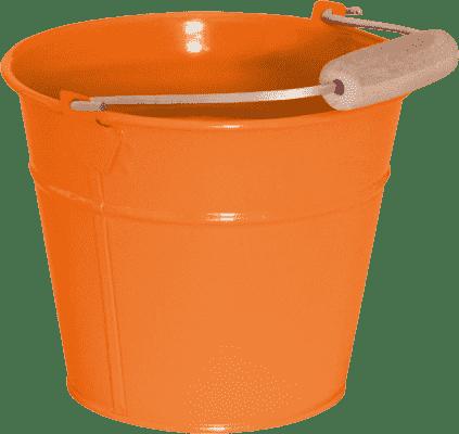 WOODY Kbelík kovový – oranžový / růžový - zahradní nářadí