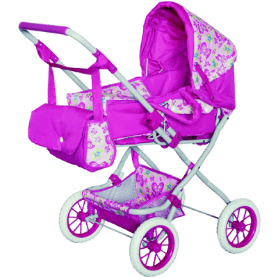 WOODY Dětský kočárek velký pro panenky