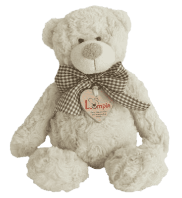 LUMPIN Medvěd Spencer s mašlí, střední